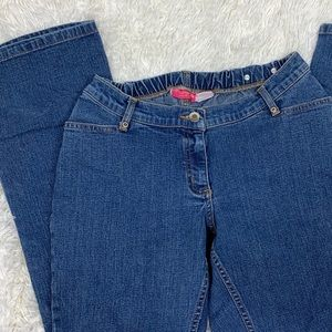 Liz Lange Adjustable Flare Maternity Jeans Sz 6